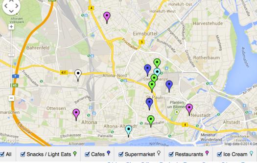 An interactive vegan map of Hamburg.
