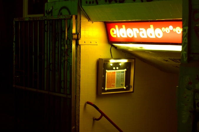 The sign at El Dorado in Hamburg