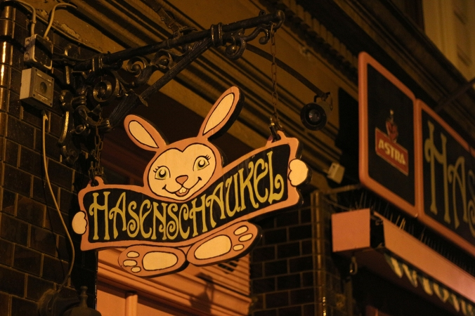 A picture of the sign outside Hasenschaukel, Hamburg