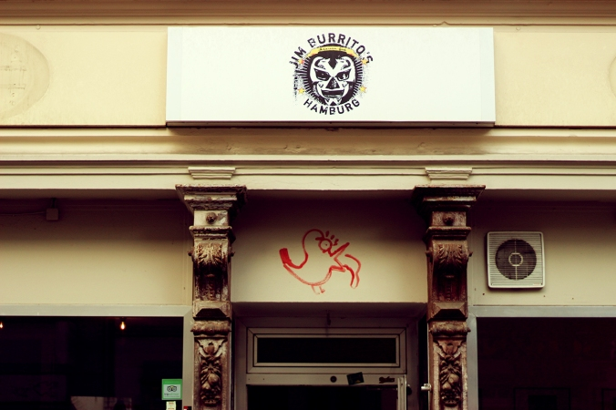The facade of Jim Burritos in Hamburg