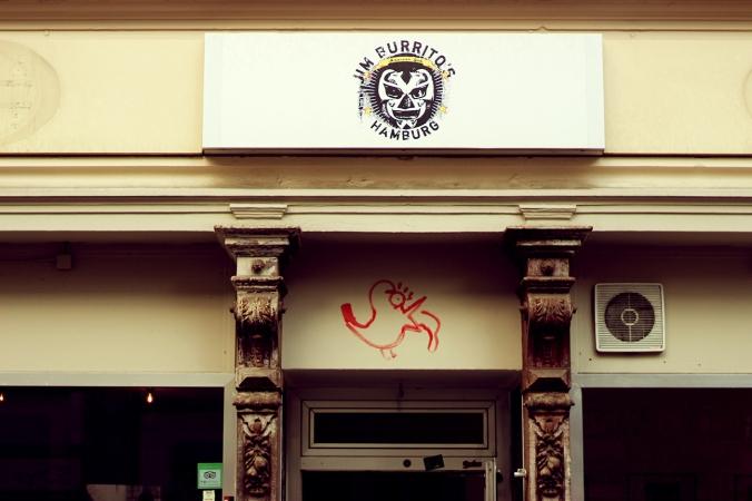 The facade of Jim Burritos in Hamburg