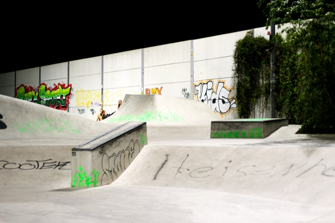 A skatepark for people to skateboard in, Wilhelmsburg