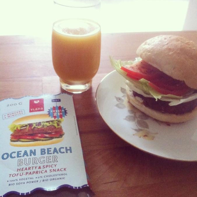 Vegan burger (you can buy vegan burger patties in most countries)