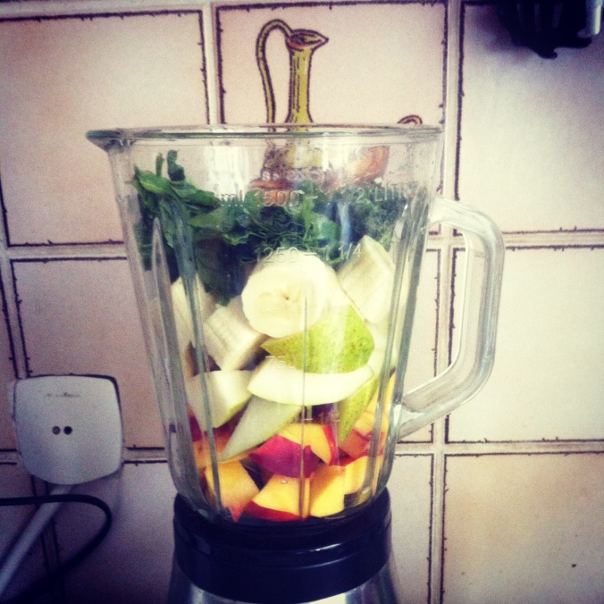 Green smoothie, EVERY MORNING, pre-blend.
